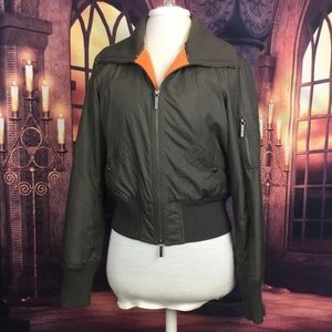 Vince Green Bomber Jacket Fleece Lined M
